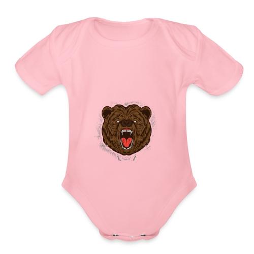 THE BEAST - Organic Short Sleeve Baby Bodysuit