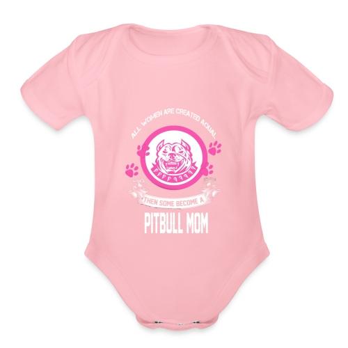 pitbullmom - Organic Short Sleeve Baby Bodysuit