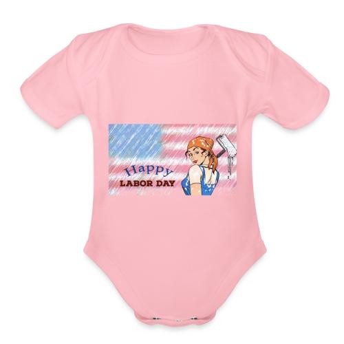 Labor Day Happy Day 2018 - Organic Short Sleeve Baby Bodysuit