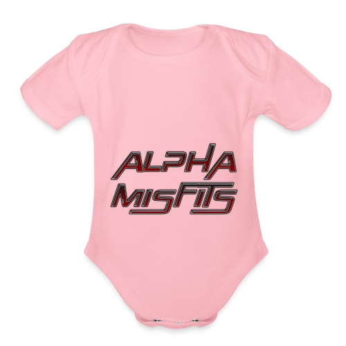 Alphamisfits Name Logo - Organic Short Sleeve Baby Bodysuit