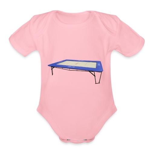 trampoline - Organic Short Sleeve Baby Bodysuit
