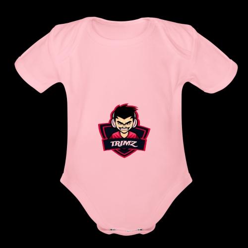Trimz Army Trimz Logo - Organic Short Sleeve Baby Bodysuit