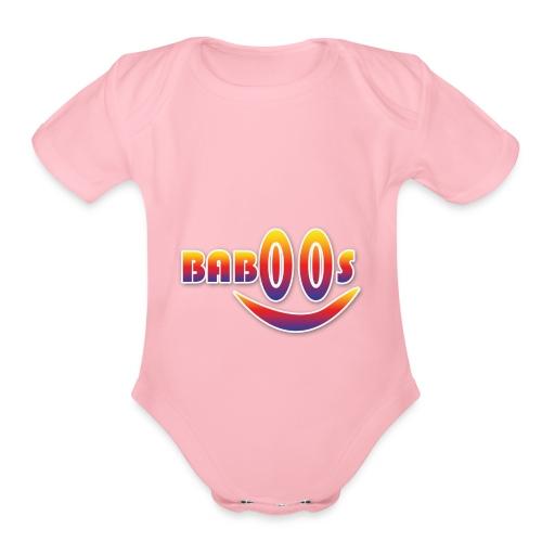 Baboos smiley funny design - Organic Short Sleeve Baby Bodysuit