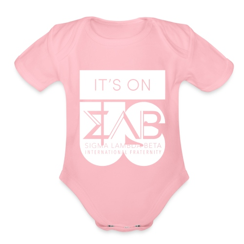 Its On Betas White - Organic Short Sleeve Baby Bodysuit