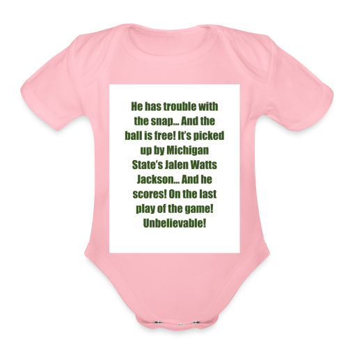 He_has_trouble_with_the_snap-1 - Organic Short Sleeve Baby Bodysuit