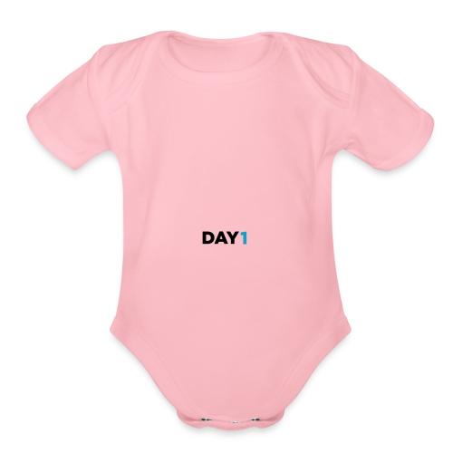 DAY1 Logo - Organic Short Sleeve Baby Bodysuit