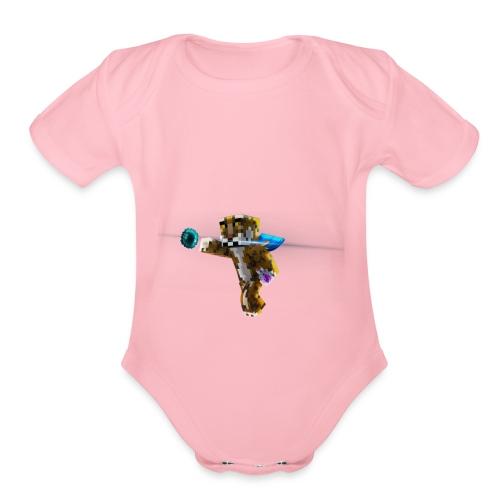 Supershiftery Design 1 - Organic Short Sleeve Baby Bodysuit