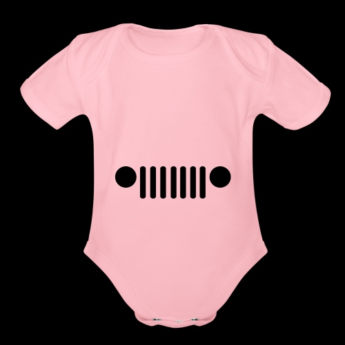 Jeep Grille - Organic Short Sleeve Baby Bodysuit