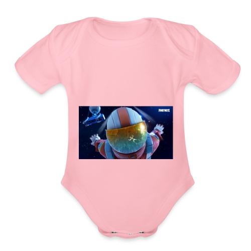 Fortnite Sky Diving - Organic Short Sleeve Baby Bodysuit