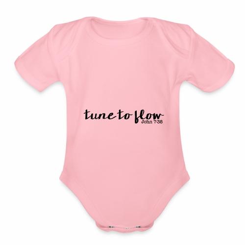Tune to Flow - Design 1 - Organic Short Sleeve Baby Bodysuit