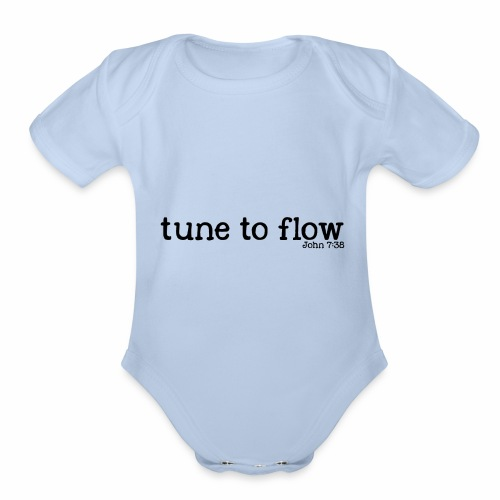 Tune to Flow - Design 2 - Organic Short Sleeve Baby Bodysuit