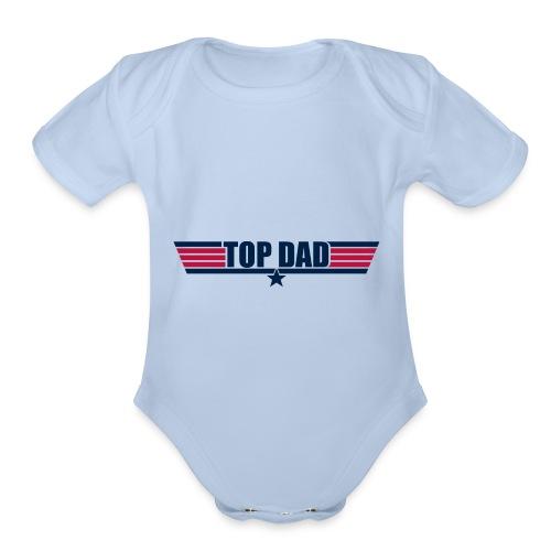 Top Dad - Organic Short Sleeve Baby Bodysuit