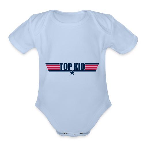 Top Kid - Organic Short Sleeve Baby Bodysuit