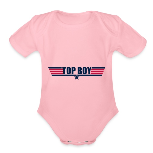 top boy - Organic Short Sleeve Baby Bodysuit