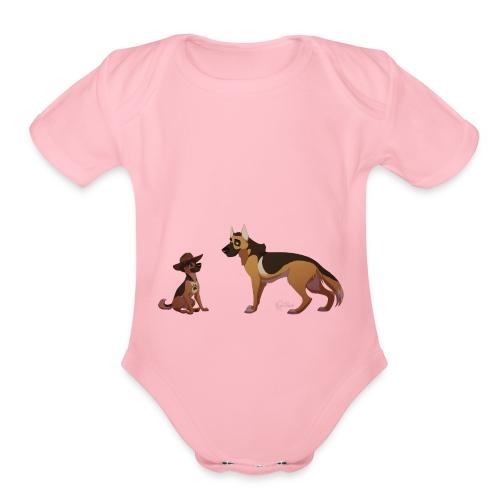police dog - Organic Short Sleeve Baby Bodysuit