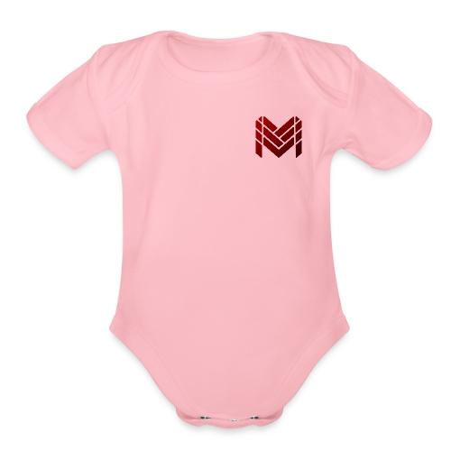 Malikan Logo (Small) - Organic Short Sleeve Baby Bodysuit
