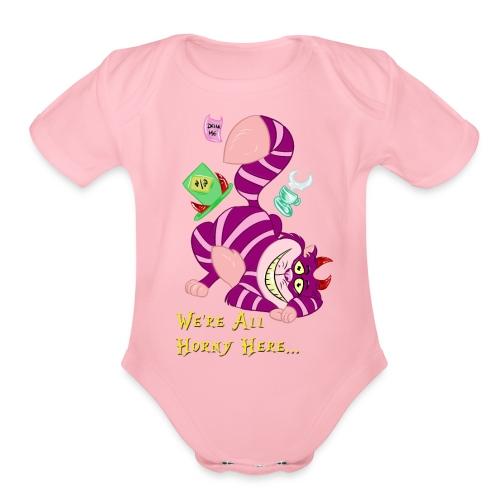 Cheshire Cat - Organic Short Sleeve Baby Bodysuit