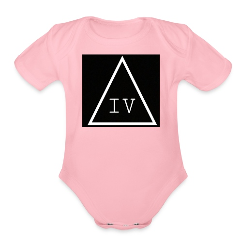 IV LOGO - Organic Short Sleeve Baby Bodysuit