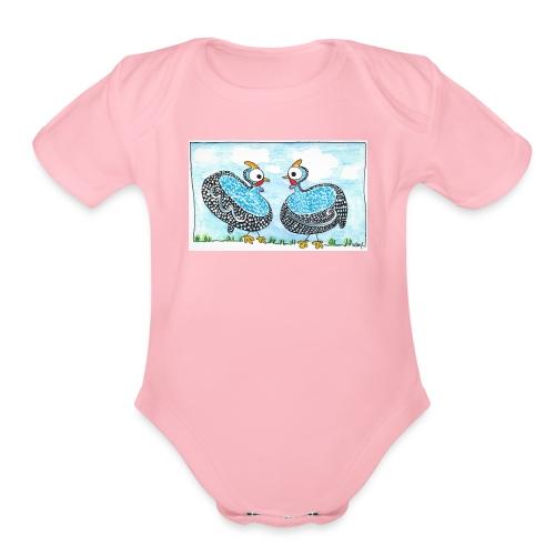 Guinea fowl - Organic Short Sleeve Baby Bodysuit