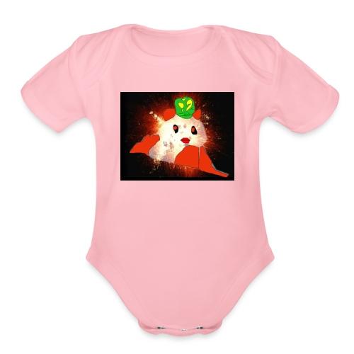 Exploding Panda - Organic Short Sleeve Baby Bodysuit