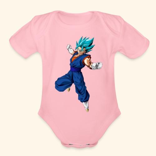 Vegito super saiyan blue - Organic Short Sleeve Baby Bodysuit