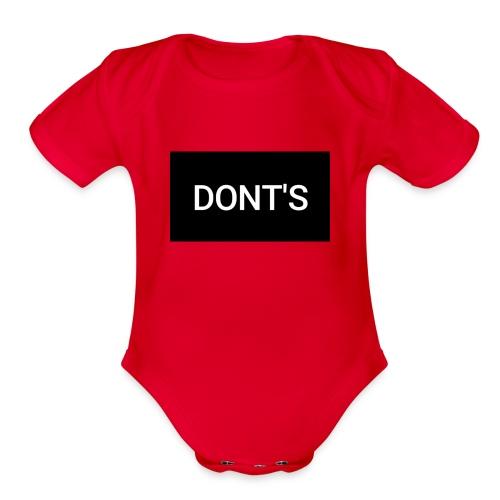 Snapshot 569 - Organic Short Sleeve Baby Bodysuit