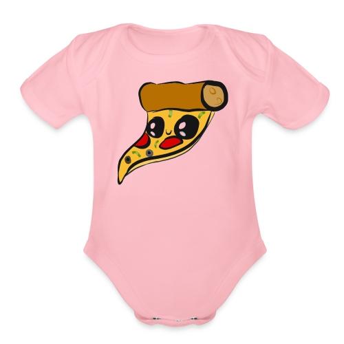 pizza is important - Organic Short Sleeve Baby Bodysuit