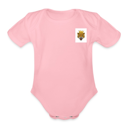 cheetah swag - Organic Short Sleeve Baby Bodysuit