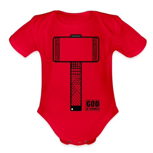 thor - Organic Short Sleeve Baby Bodysuit