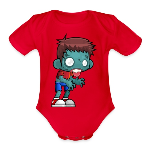 male zombie - Organic Short Sleeve Baby Bodysuit