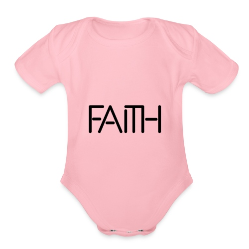 Faith tshirt - Organic Short Sleeve Baby Bodysuit
