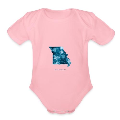 Missouri - Organic Short Sleeve Baby Bodysuit