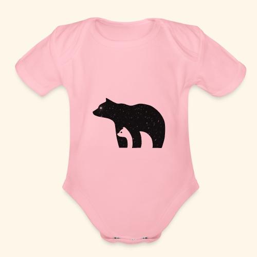 polar bear - Organic Short Sleeve Baby Bodysuit