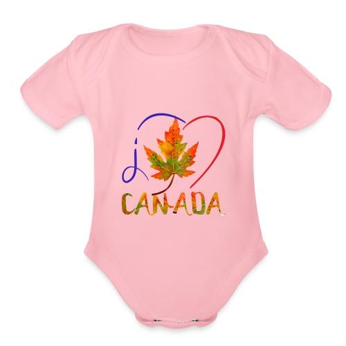 J'AIME LE CANADA - Cache-couche à manches courtes bio