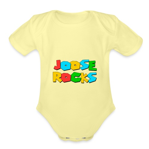 Super Joose Rocks - Organic Short Sleeve Baby Bodysuit