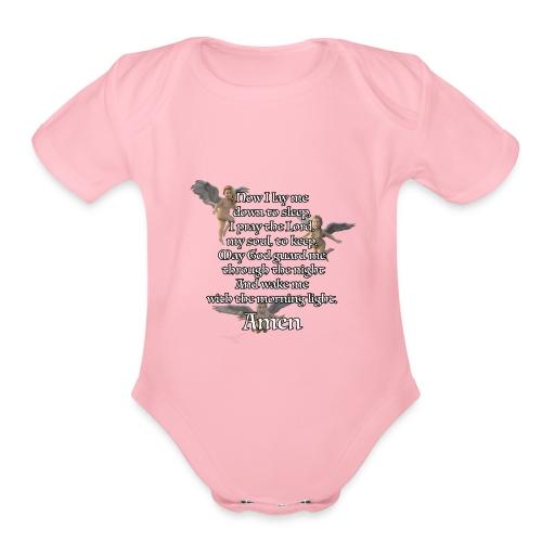 Bedtime prayer for Children - Organic Short Sleeve Baby Bodysuit