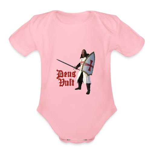 Crusader Deux Vult - Organic Short Sleeve Baby Bodysuit