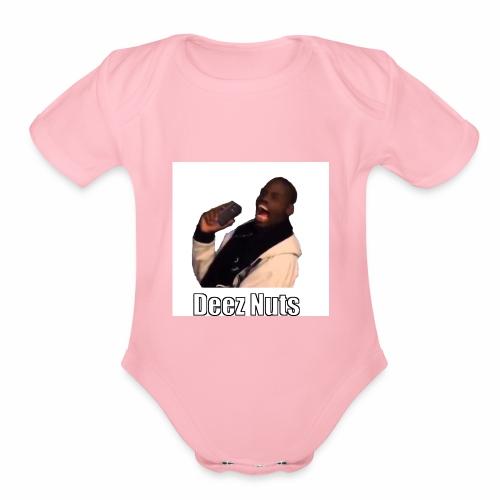 Deez Nuts - Organic Short Sleeve Baby Bodysuit