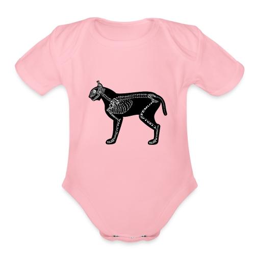 Skeleton Lynx - Organic Short Sleeve Baby Bodysuit