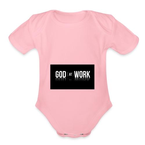 God working - Organic Short Sleeve Baby Bodysuit
