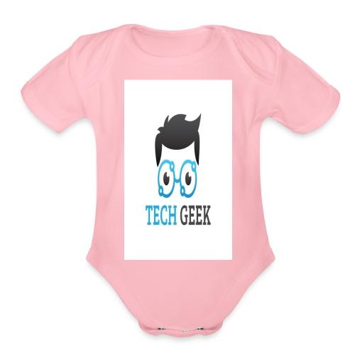 TECH-GEEK T-SHIRT - Organic Short Sleeve Baby Bodysuit