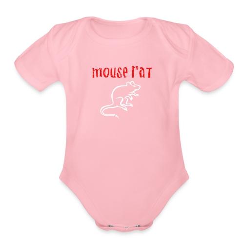 Mouse Rat - Organic Short Sleeve Baby Bodysuit