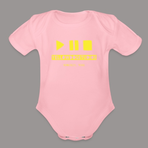 Yellow DOG Studios LOGO - Organic Short Sleeve Baby Bodysuit