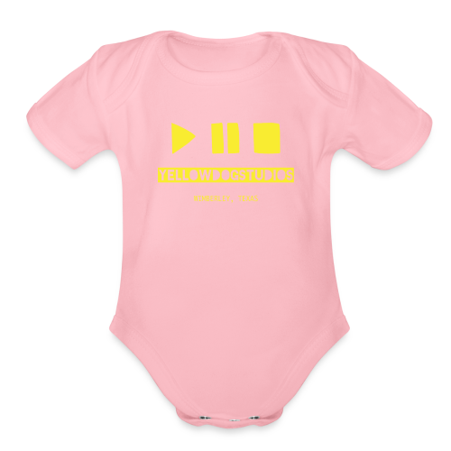 Yellow DOG Studios LOGO - Organic Short Sleeve Baby Bodysuit