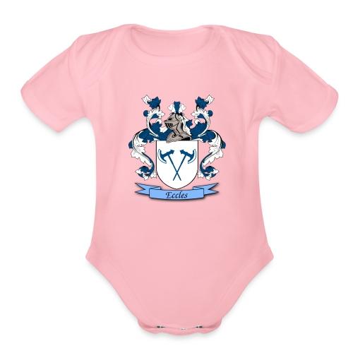 Eccles Family Crest - Organic Short Sleeve Baby Bodysuit