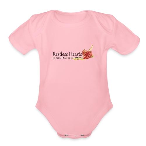 Restless Hearts Foundation Logo - Organic Short Sleeve Baby Bodysuit