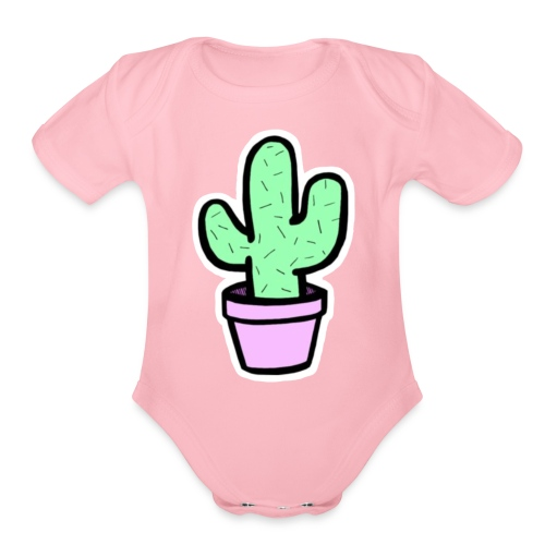 Cactus cute - Organic Short Sleeve Baby Bodysuit