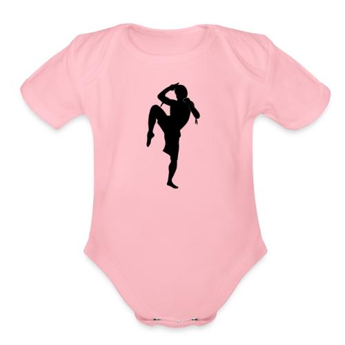 muay thai hoodie - Organic Short Sleeve Baby Bodysuit