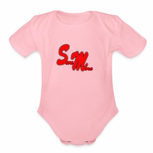 AUTOGRAPH LOGO! - Organic Short Sleeve Baby Bodysuit