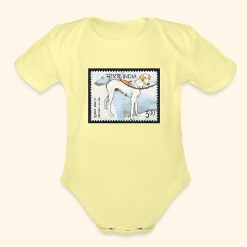 India - Mudhol Hound - Organic Short Sleeve Baby Bodysuit